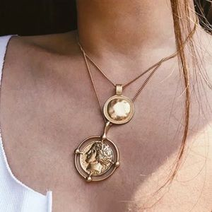 Jewelry - New 18K Gold Coin Vintage Double Chain Necklace